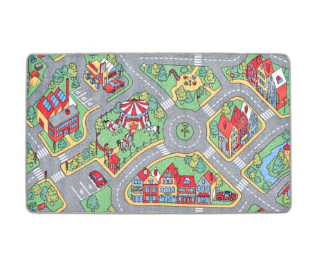 vidaXL Tapis de jeu Poil à boucle 80 x 120 cm Motif route de ville[3/8]