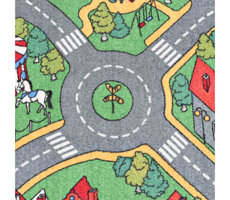 vidaXL Spielmatte Schlingenpol 90 x 200 cm Stadtstraßenmuster[4/8]