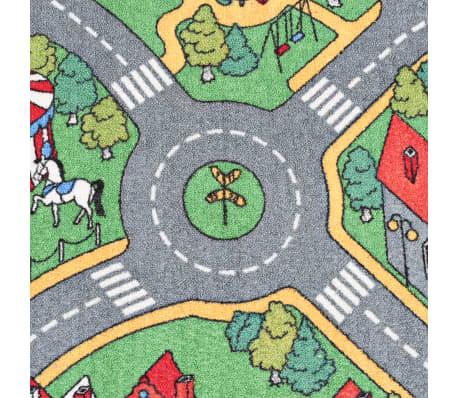 vidaXL Tapis de jeu Poil à boucle 120 x 160 cm Motif route de ville[4/8]