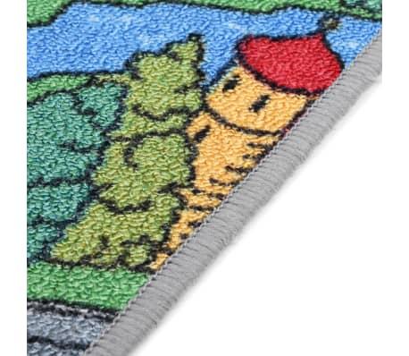 vidaXL Tapis de jeu Poil à boucle 120 x 160 cm Motif route de ville[7/8]