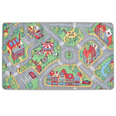 vidaXL Tapis de jeu Poil à boucle 120 x 160 cm Motif route de ville[3/8]