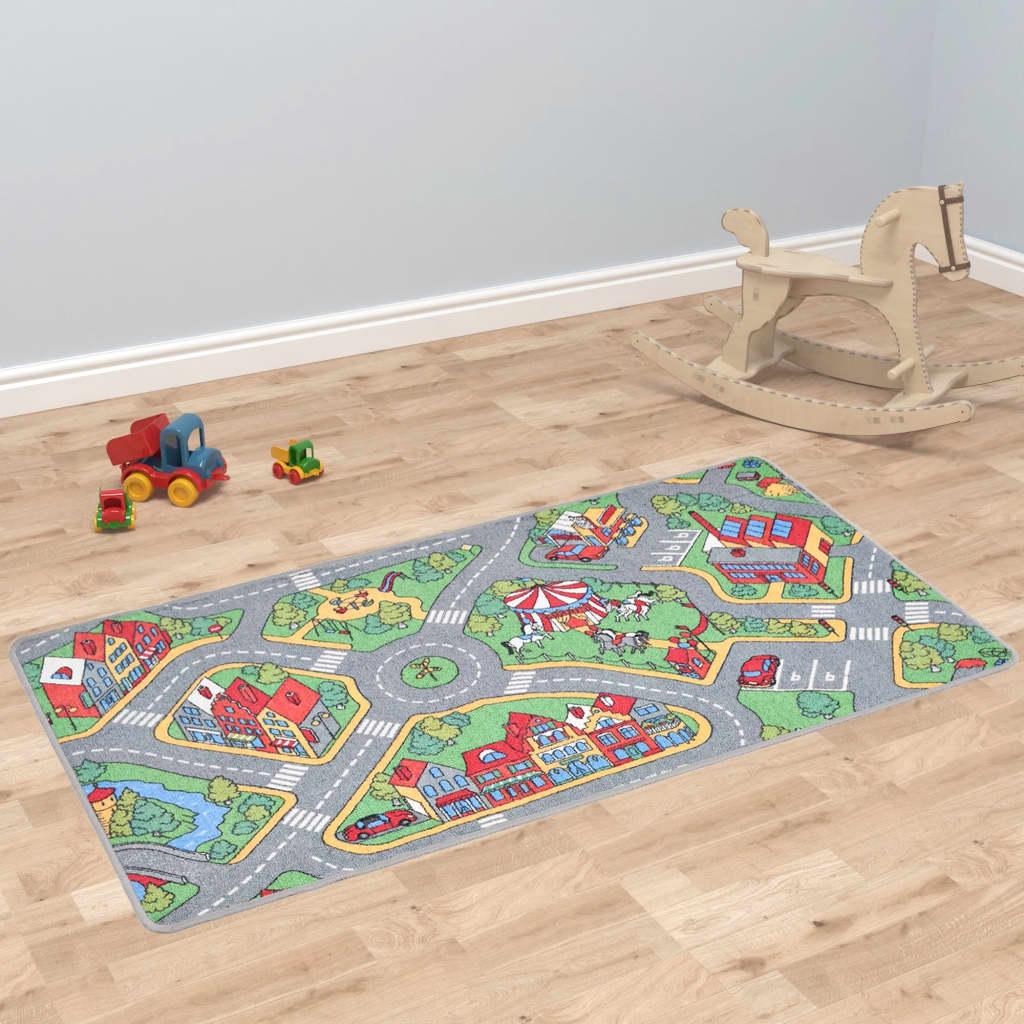 Hrací koberec se smyčkovým vlasem 120x160 vzor Městská silnice