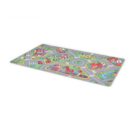vidaXL Tapis de jeu Poil à boucle 133 x 190 cm Motif route de ville