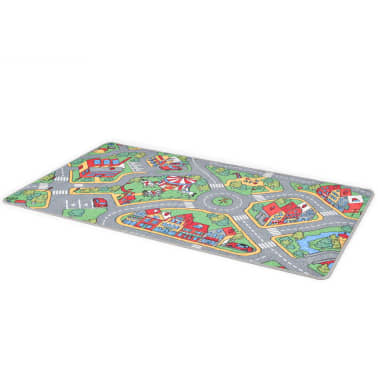vidaXL Žaidimų kilimėlis, kilp. pūkas, 133x190cm, miesto kelio diz.[2/8]