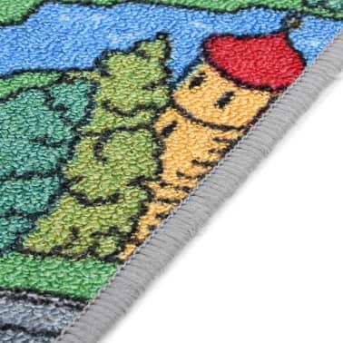 vidaXL Tapis de jeu Poil à boucle 190 x 290 cm Motif de route de ville[7/8]