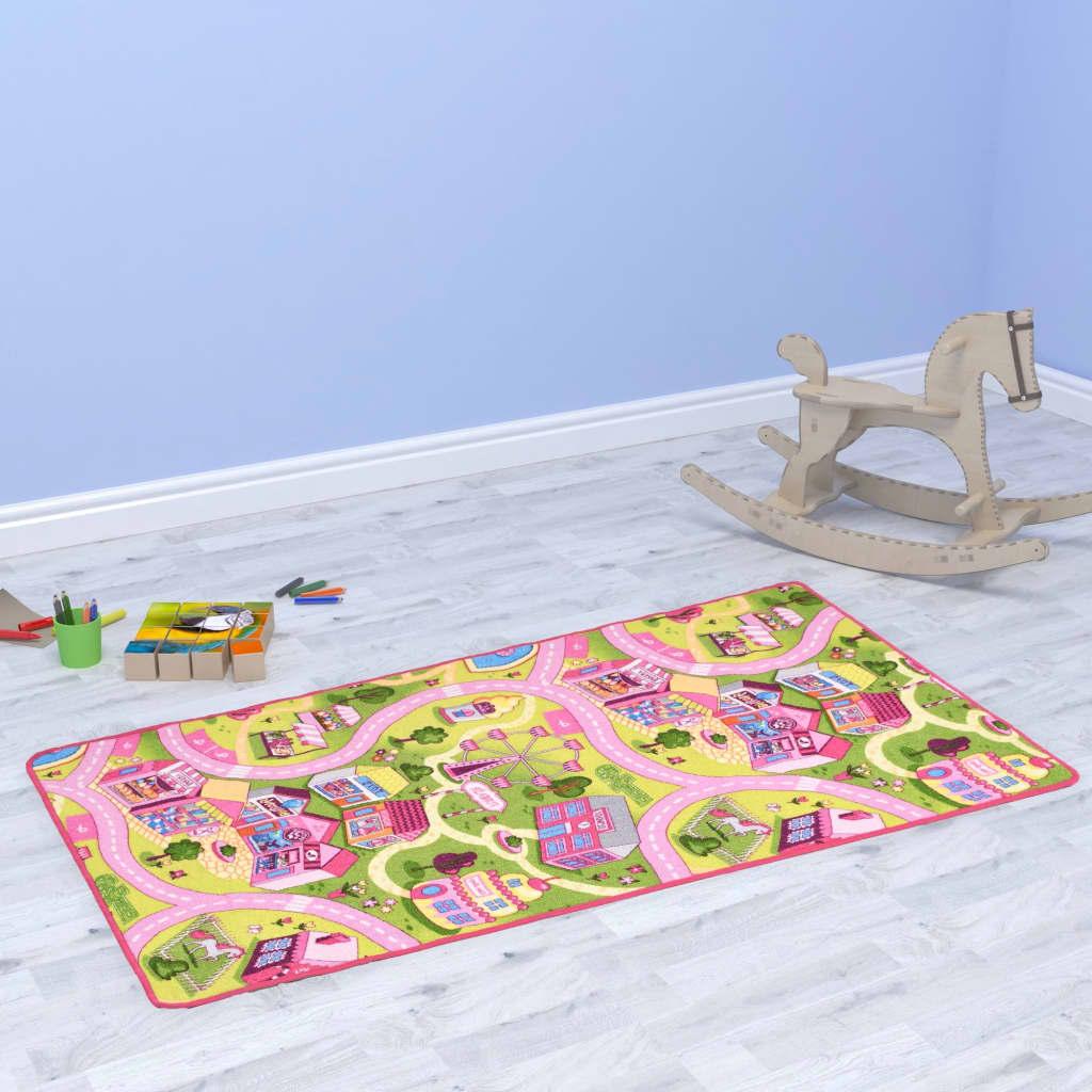 vidaXL Hrací koberec smyčkový vlas 80 x 120 cm vzor Sladké městečko