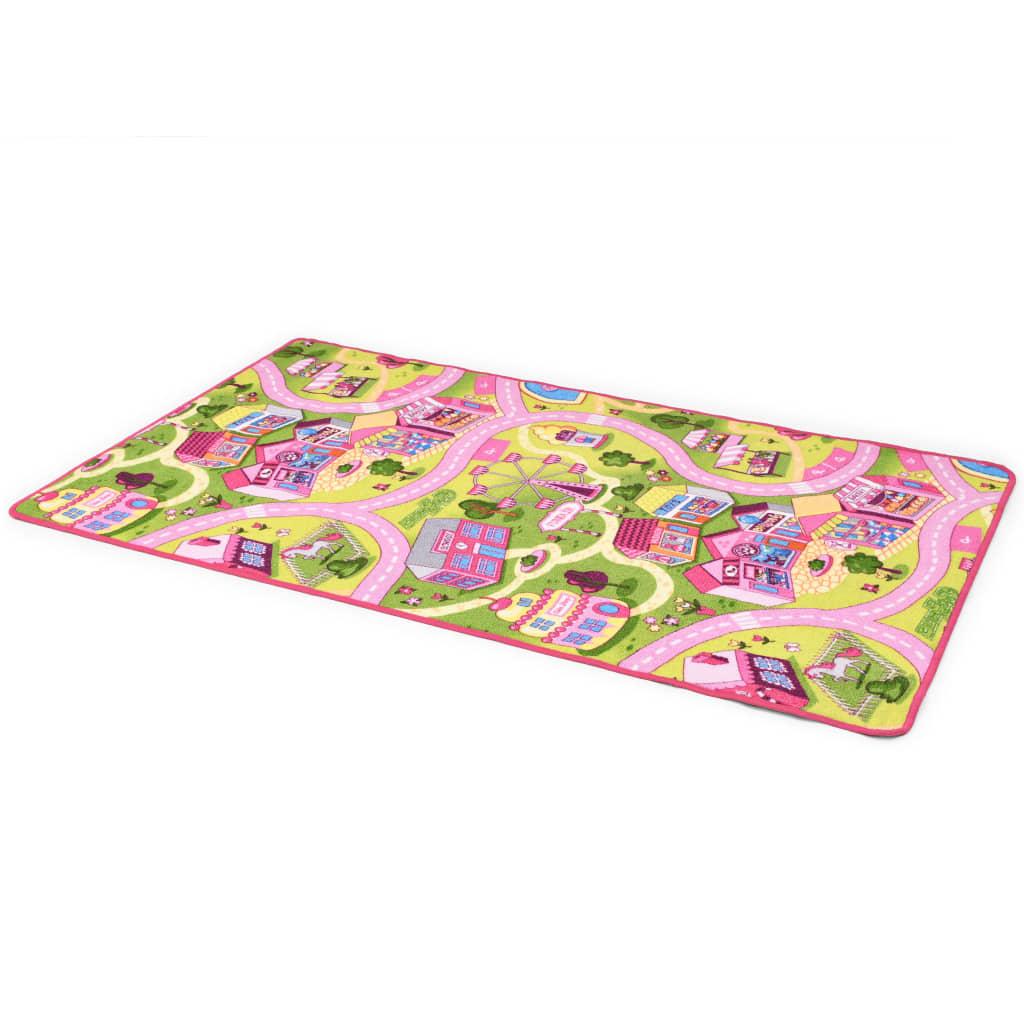 vidaXL Hrací koberec se smyčkovým vlasem 100x165 vzor Sladké městečko