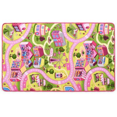 vidaXL Tapis de jeu Poil à boucle 100 x 165 cm Motif de ville jolie[3/8]