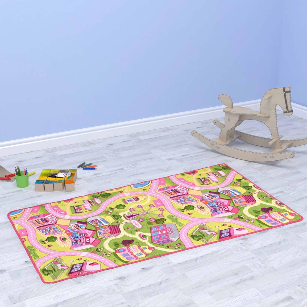 Hrací koberec se smyčkovým vlasem 100x165 vzor Sladké městečko