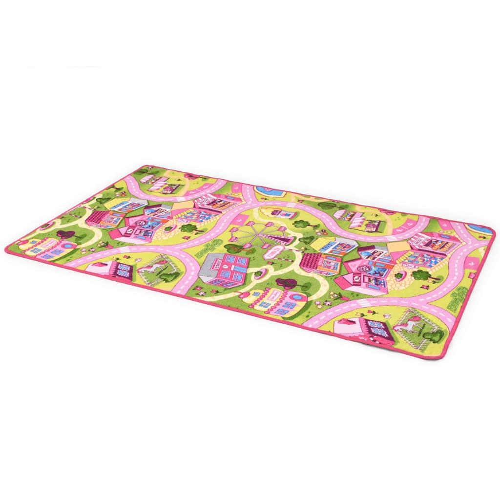 vidaXL Hrací koberec, smyčkový vlas 133 x 190 cm vzor Sladké městečko
