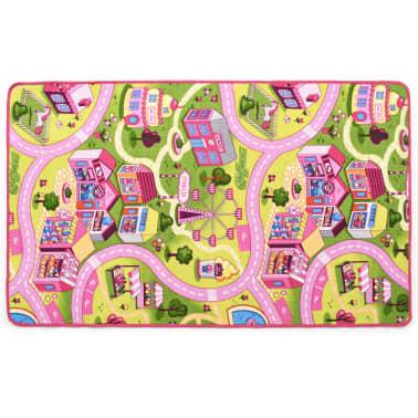 vidaXL Tapis de jeu Poil à boucle 133 x 190 cm Motif de ville jolie[3/8]