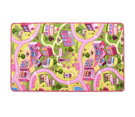 vidaXL Žaidimų kilimėlis, kilp. pūkas, 190x200cm, gražaus miesto diz.[3/8]