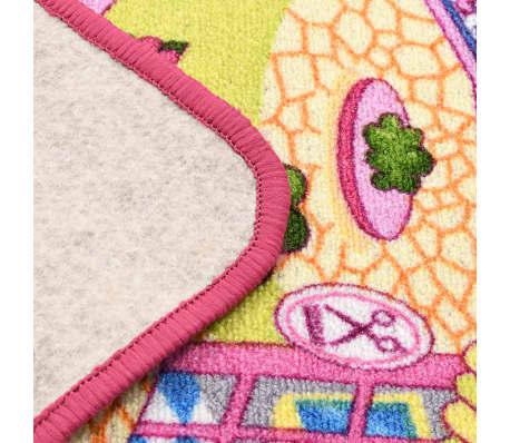 vidaXL Žaidimų kilimėlis, kilp. pūkas, 190x200cm, gražaus miesto diz.[5/8]