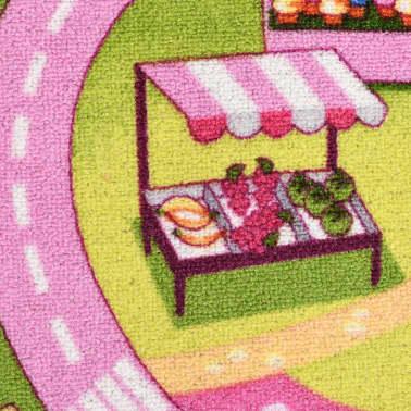 vidaXL Žaidimų kilimėlis, kilp. pūkas, 190x200cm, gražaus miesto diz.[4/8]