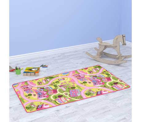 vidaXL Žaidimų kilimėlis, kilp. pūkas, 190x200cm, gražaus miesto diz.[1/8]