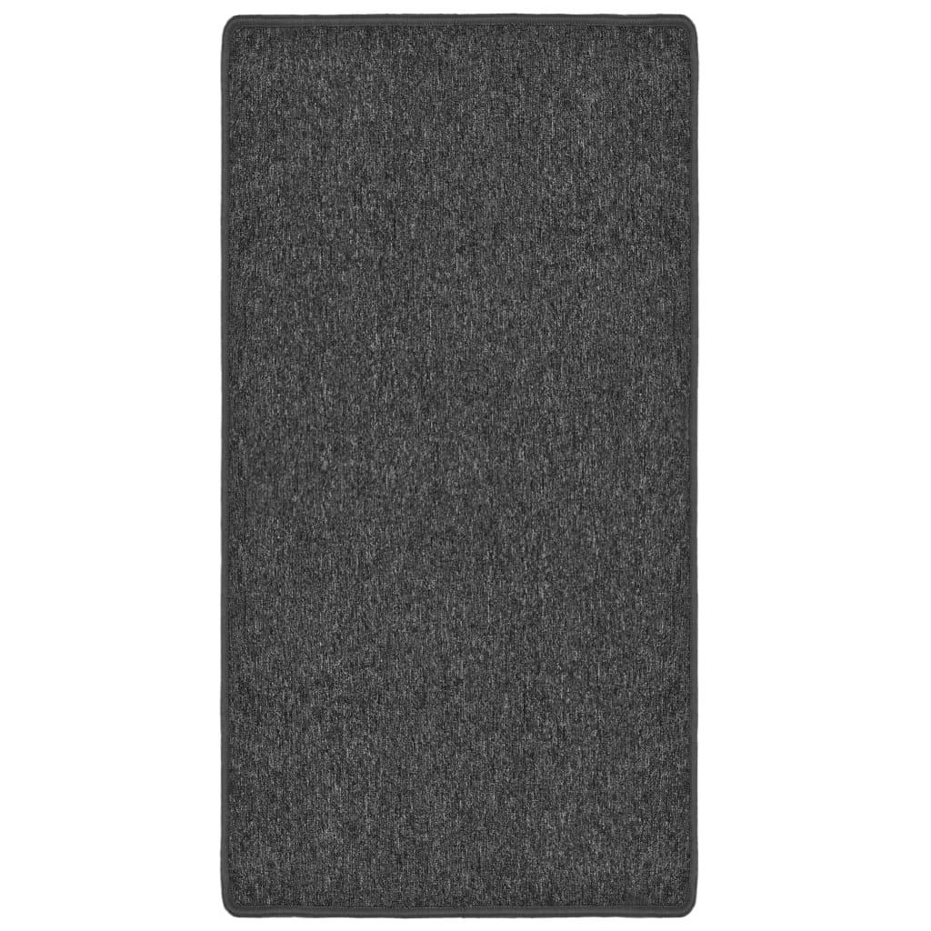 vidaXL Všívaný koberec 80 x 150 cm antracitový