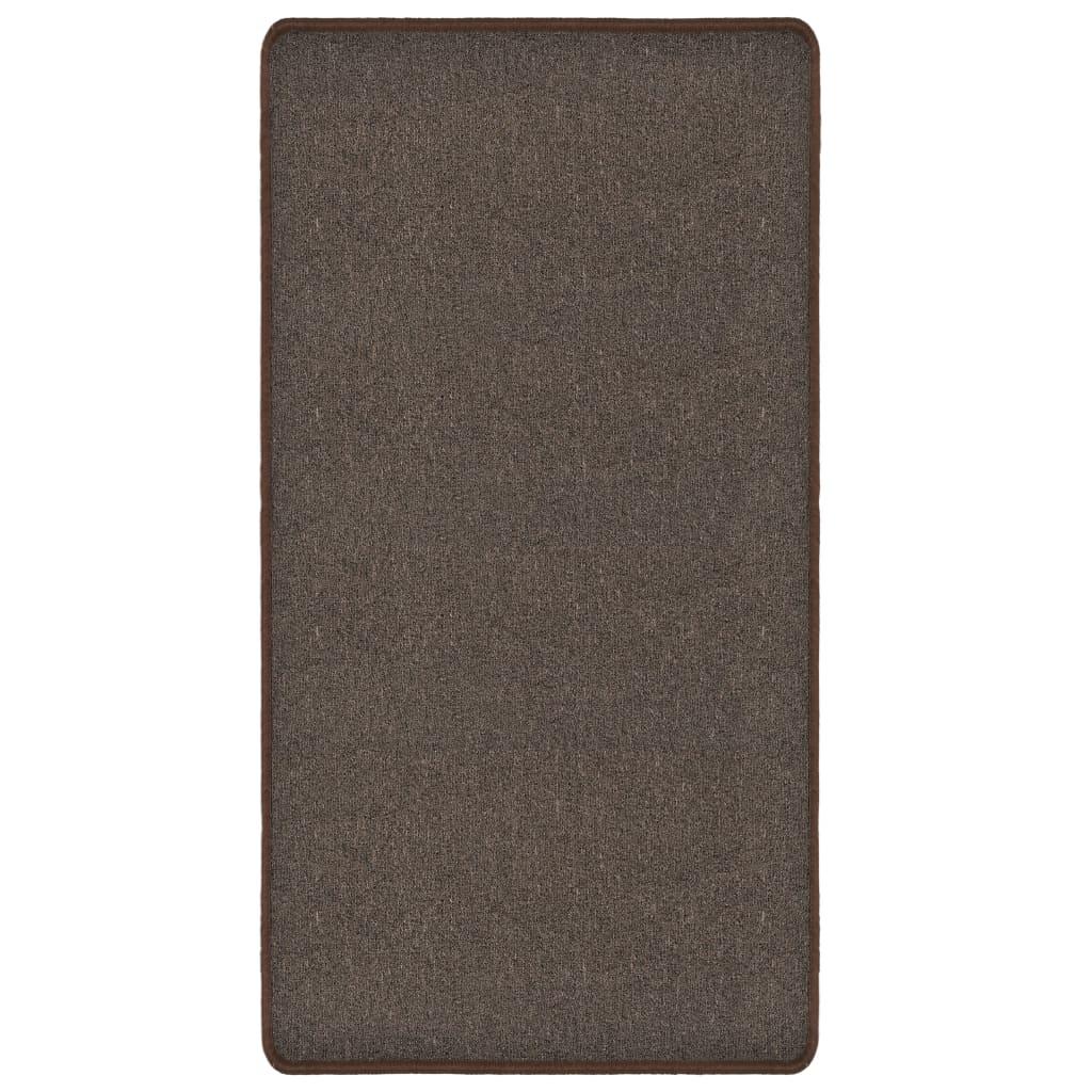 vidaXL Všívaný koberec 80 x 150 cm hnědý