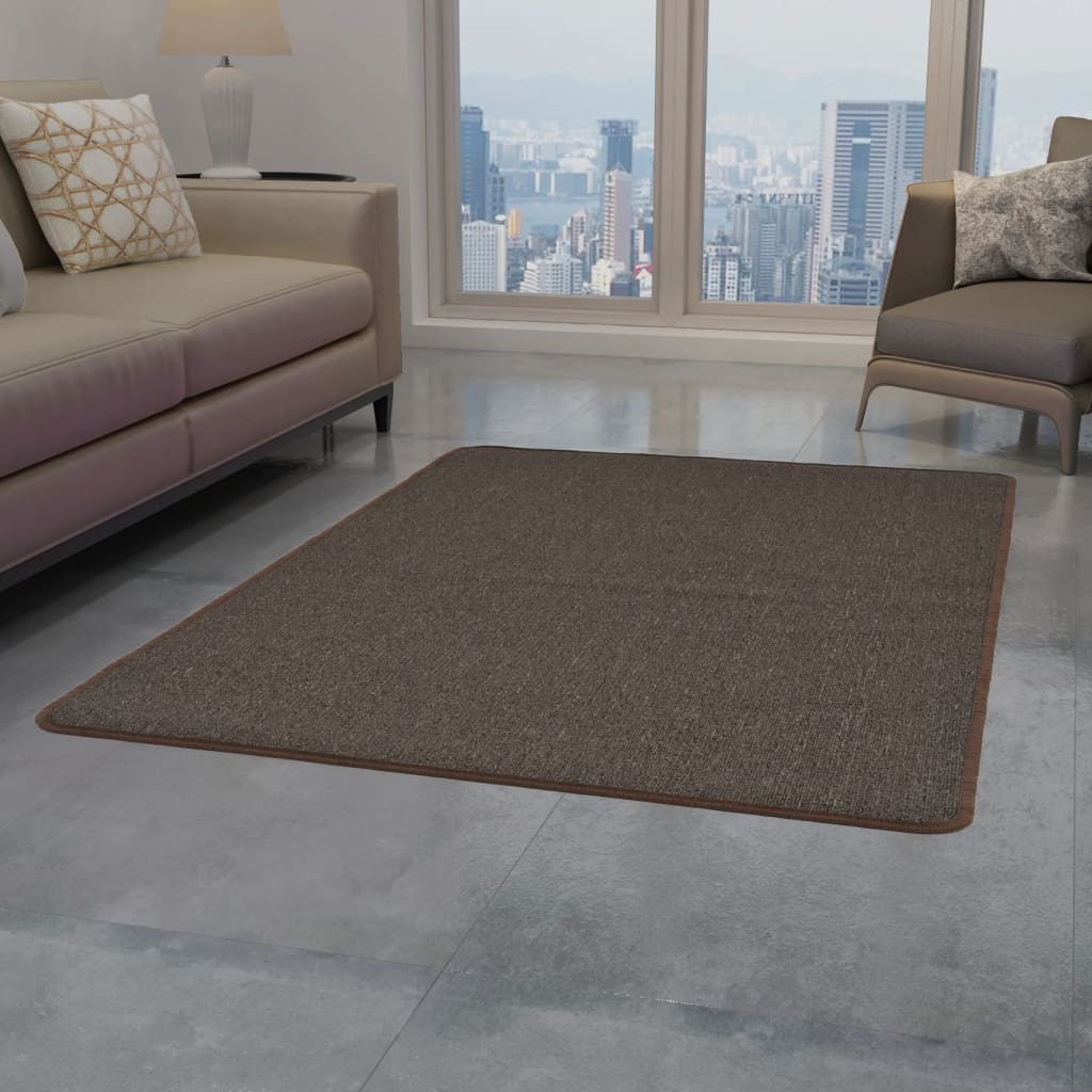 999132739 Teppich Getuftet 80 x 150 cm Braun