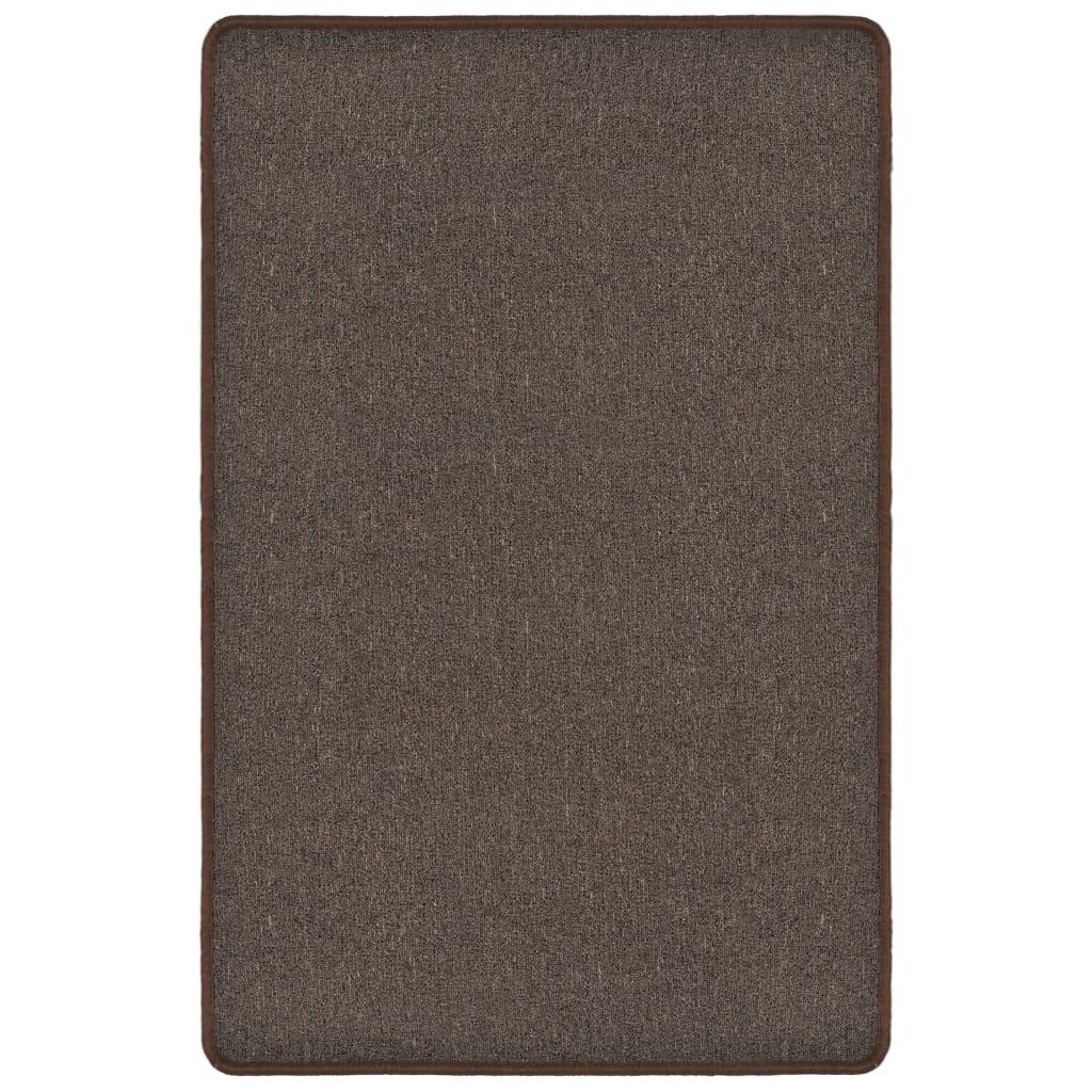 vidaXL Všívaný koberec 120 x 180 cm hnědý