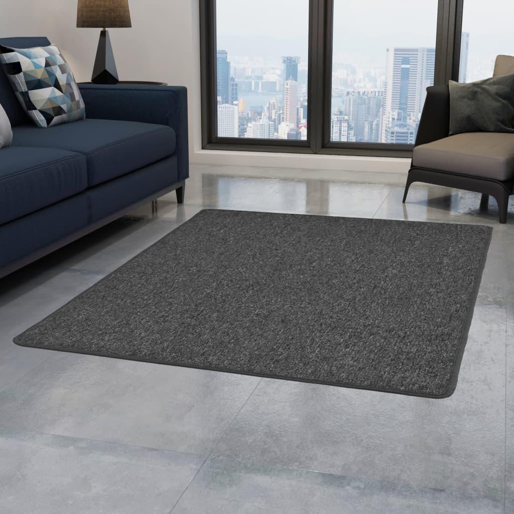 vidaXL Všívaný koberec 80 x 150 cm šedý