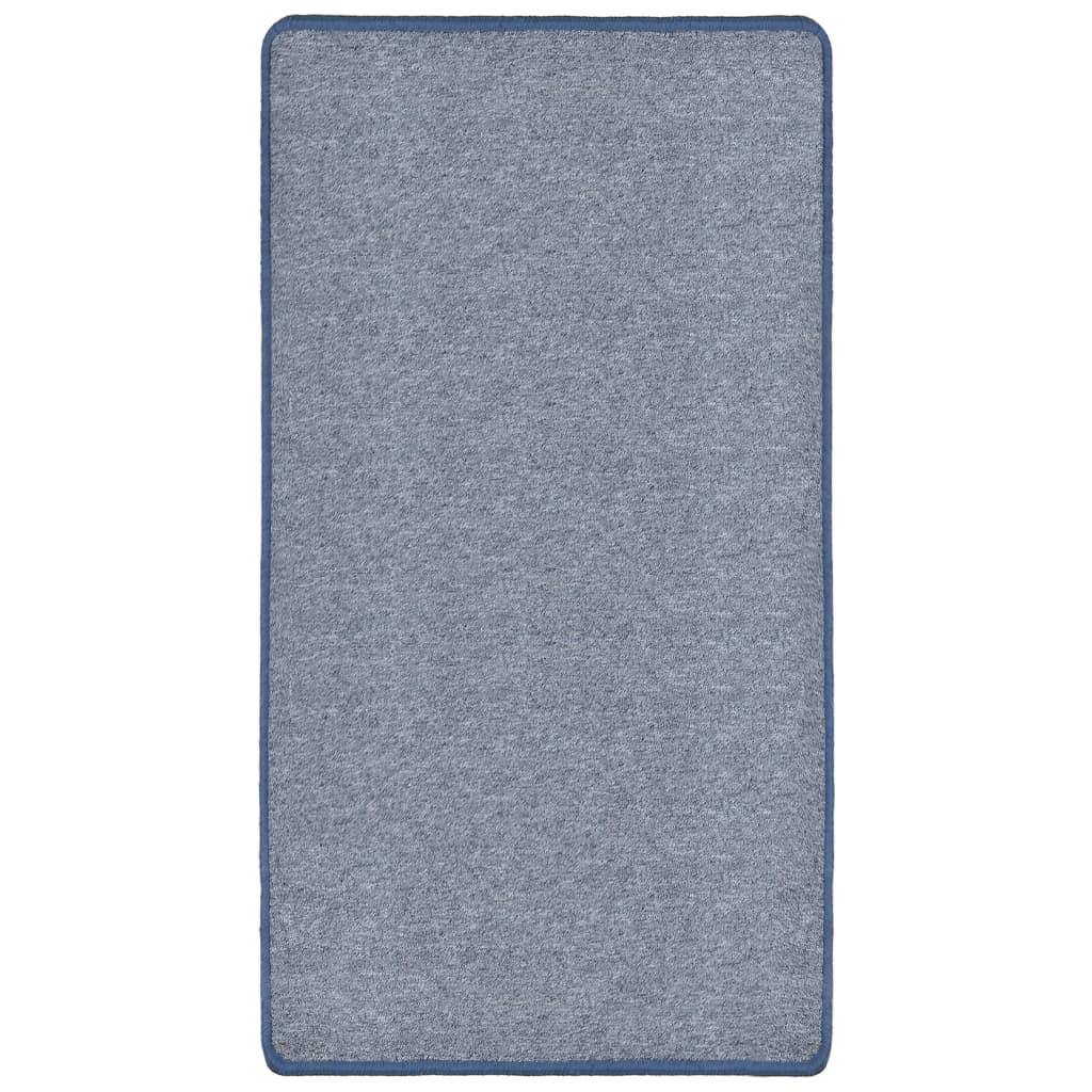 vidaXL Všívaný koberec 80 x 150 cm modrý