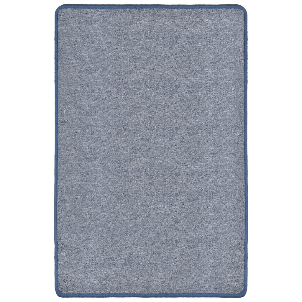 vidaXL Všívaný koberec 120 x 180 cm modrý