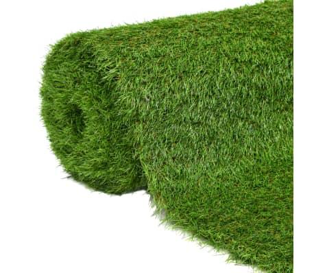 vidaXL Umetna trava 1x15 m/40 mm zelena
