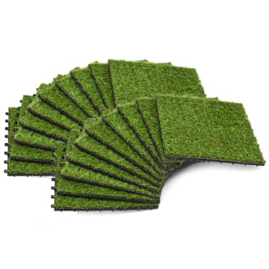 vidaXL Kunstgrastegels 30x30 cm groen 20 st[1/5]