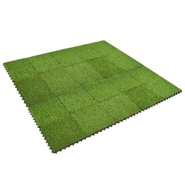 vidaXL Kunstgrastegels 30x30 cm groen 20 st[2/5]