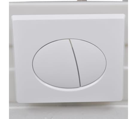 vidaXL Vägghängd toalett med cistern mjuk stängning keramik vit WC[12/17]