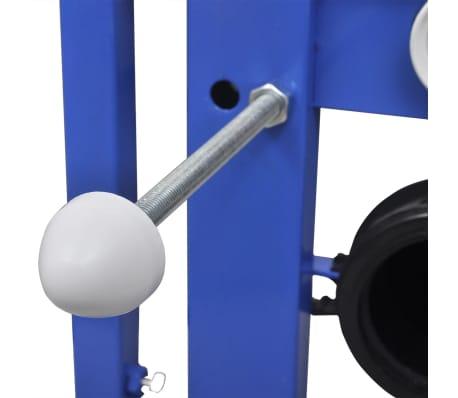 vidaXL Vägghängd toalett med cistern mjuk stängning keramik vit WC[13/17]