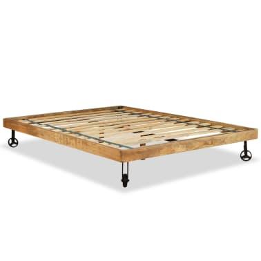 vidaXL Lit avec matelas Bois de manguier brut 140 x 200 cm[10/20]