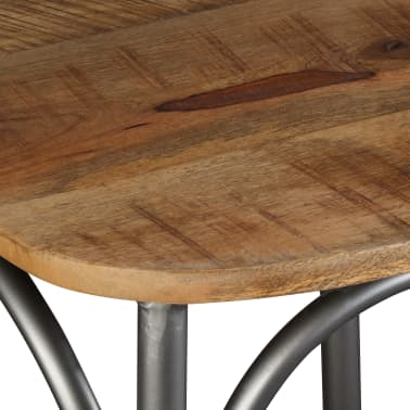 vidaXL Chaise de salle à manger 4 pcs Bois de manguier massif et acier[9/11]