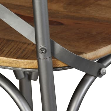 vidaXL Chaise de salle à manger 4 pcs Bois de manguier massif et acier[10/11]