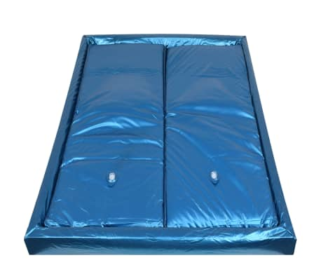 vidaXL Wasserbettmatratzen-Set mit Einlage + Trennwand 160 x 200 cm F3[3/7]