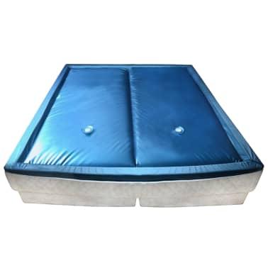 vidaXL Wasserbettmatratzen-Set mit Einlage + Trennwand 160 x 200 cm F3[1/7]
