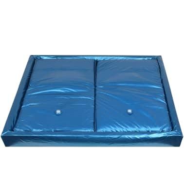 vidaXL Vandens lovos čiužinio kompl. su įdėklu ir pertv., 200x200cm[3/7]