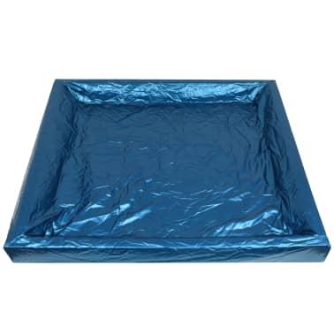 vidaXL Matelas à eau avec doublure et séparateur 200 x 200 cm F3[5/7]
