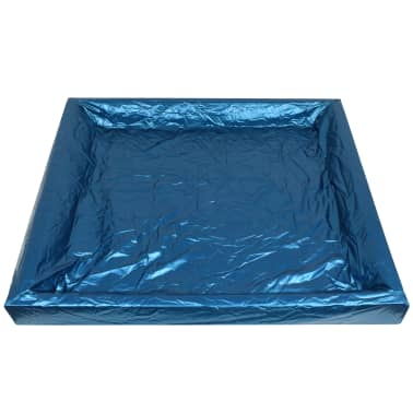 vidaXL Vandens lovos čiužinio kompl. su įdėklu ir pertv., 200x200cm[5/7]