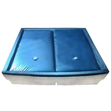 vidaXL Vandens lovos čiužinio kompl. su įdėklu ir pertv., 200x200cm[1/7]