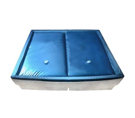 vidaXL Matelas à eau avec doublure et séparateur 200 x 200 cm F5[1/7]