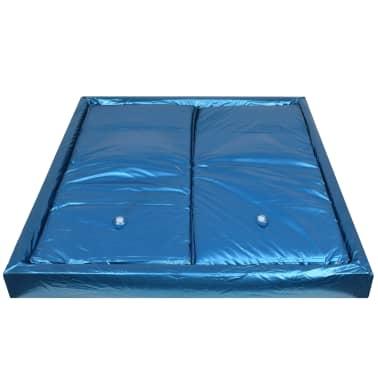 vidaXL Wasserbettmatratzen-Set mit Einlage + Trennwand 200 x 220 cm F5[3/7]