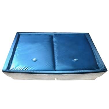vidaXL Wasserbettmatratzen-Set mit Einlage + Trennwand 200 x 220 cm F5[1/7]