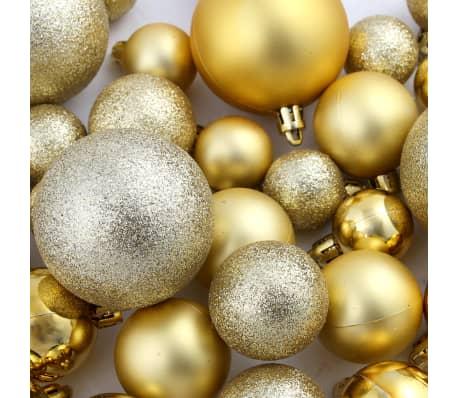 vidaXL Božično novoletne kroglice 100-delni komplet 6 cm zlate[11/11]