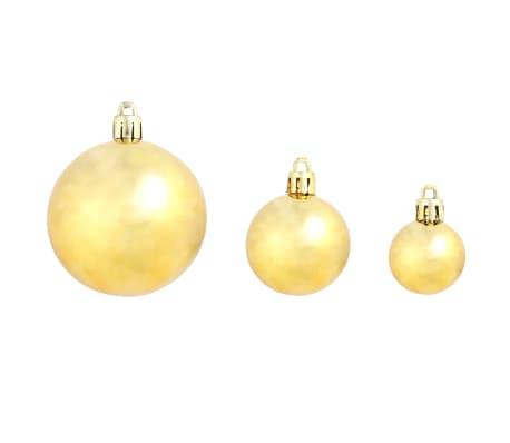 vidaXL Božično novoletne kroglice 100-delni komplet 6 cm zlate[4/11]