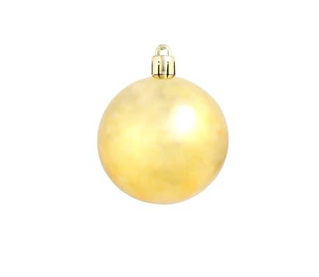 vidaXL Božično novoletne kroglice 100-delni komplet 6 cm zlate[5/11]