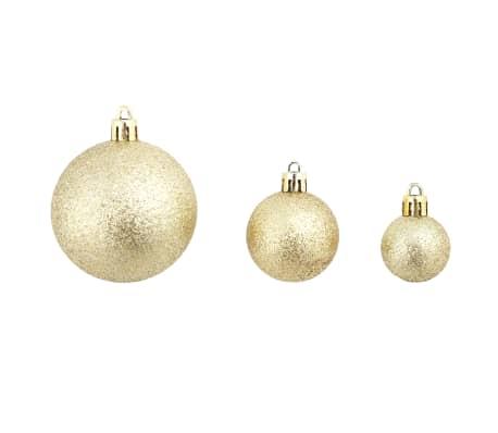 vidaXL Božično novoletne kroglice 100-delni komplet 6 cm zlate[6/11]