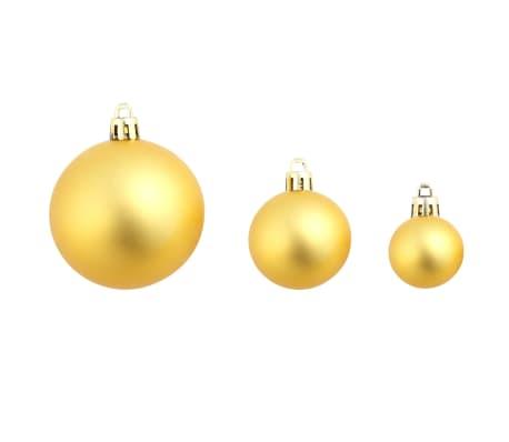 vidaXL 100-tlg. Weihnachtskugel-Set 6 cm Golden[8/11]