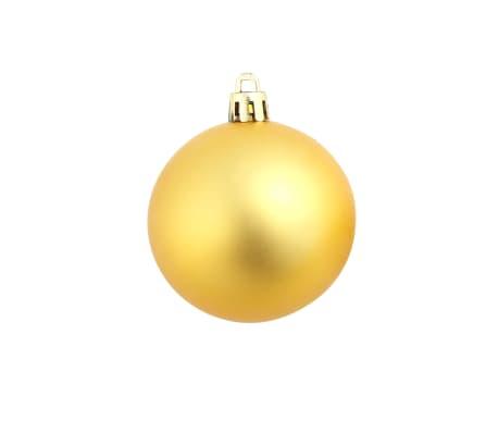 vidaXL Božično novoletne kroglice 100-delni komplet 6 cm zlate[9/11]