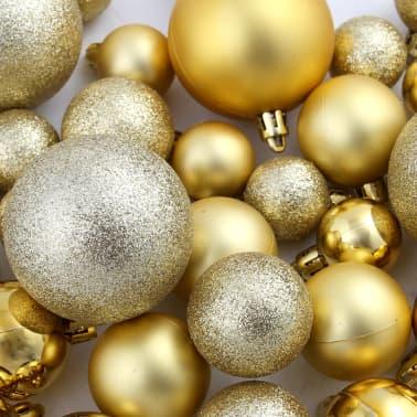 vidaXL 100-tlg. Weihnachtskugel-Set 6 cm Golden[11/11]